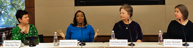 "Theresa Flores, Patrice Lee, Joni Rogers-Kante and Lacey Demalis at the luncheon briefing ""Women's Entrepreneurship and Direct Selling: A Pathway to Independent Business"" hosted by the Congressional Direct Selling Caucus in Washington, DC."